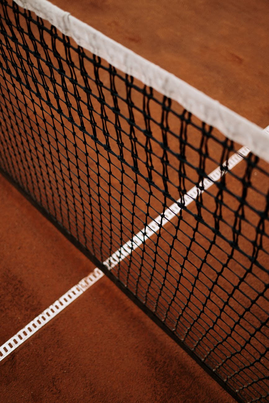 white net on brown surface